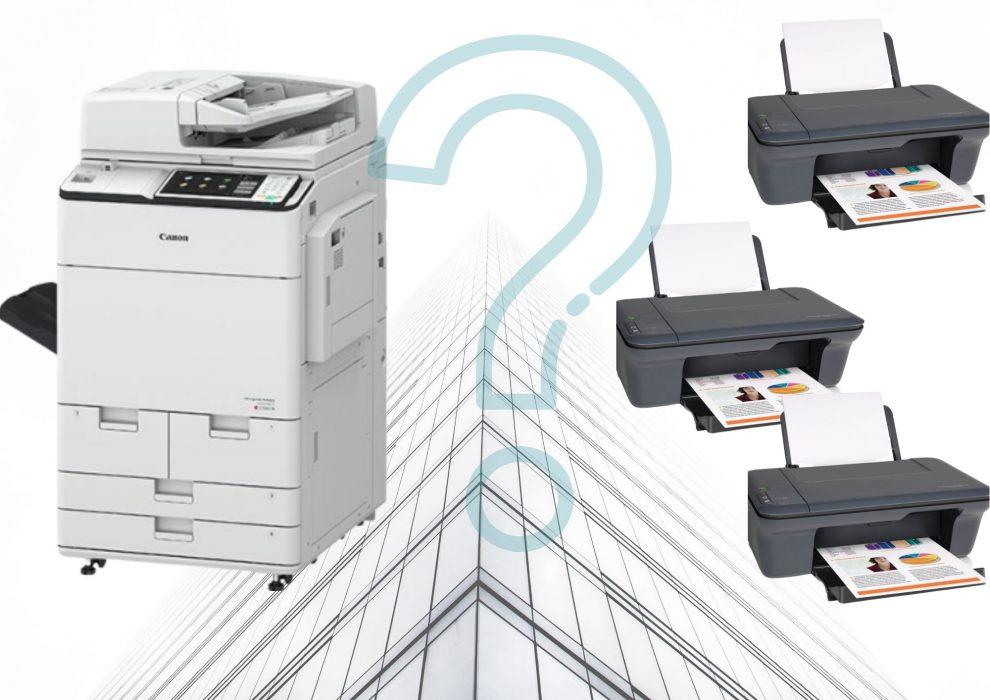 Kilka małych drukarek czy wydruk centralny?